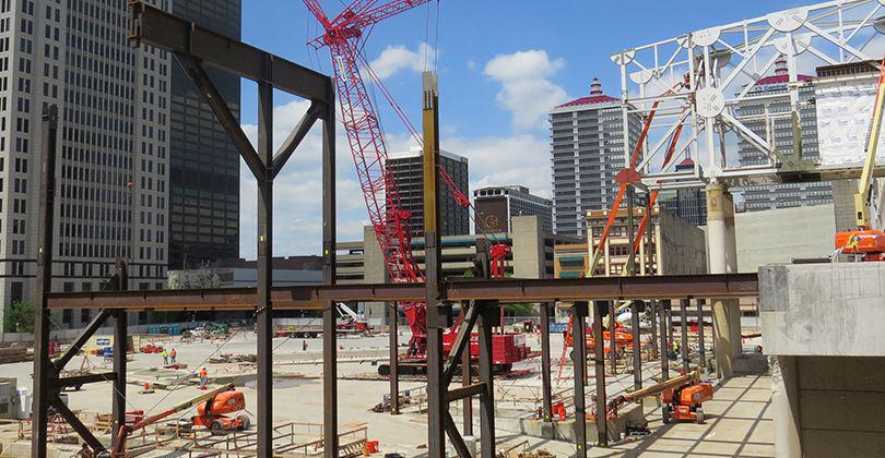 Reconstruction of the Kentucky International Convention Center hits high speed featured image